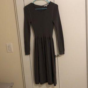 Boden Gray Sweater Dress